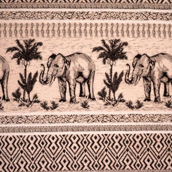 szovetnagyker.hu Klasszikus elefánt mintázatú bézs zsenília bútorszövet