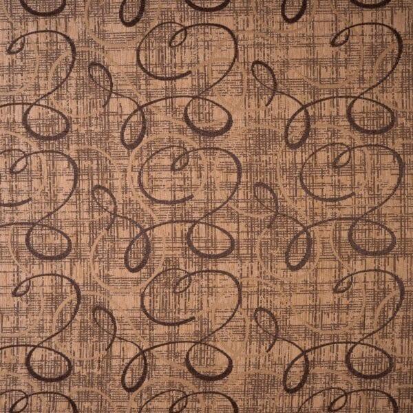 szovetnagyker.hu Enrico zsenília világos barna inda mintás bútorszövet